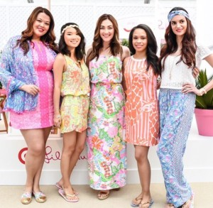Models wearing Lilly Pulitzer clothing for Target