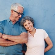 A happy senior couple. Seniors prefer an age verification process that relies on digital verification to confirm their eligibility for a gated, exclusive offer.