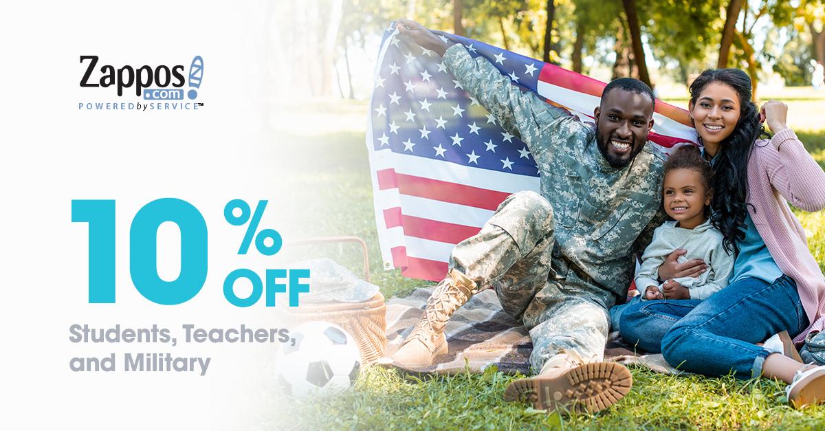 Eine Anzeige, die die personalisierten Marketingkampagnen von Zappos darstellt und einen militärischen Vater, eine militärische Frau und eine militärische Tochter enthält.
