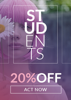 Ad banner for student offers