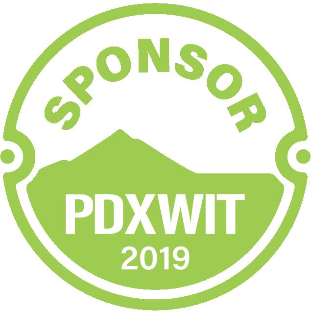 Orgullosa de ser una patrocinadora de Portland Women In Technology en 2019